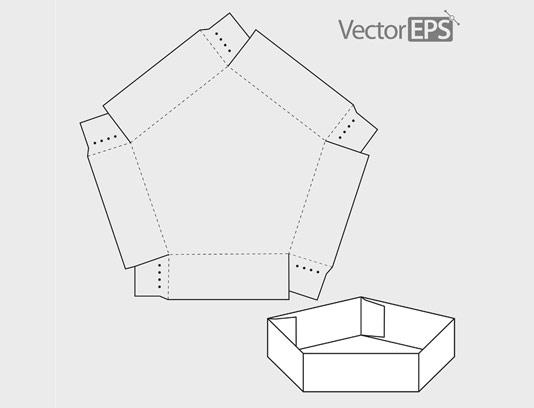 وکتور طرح گسترده پنج ضلعی
