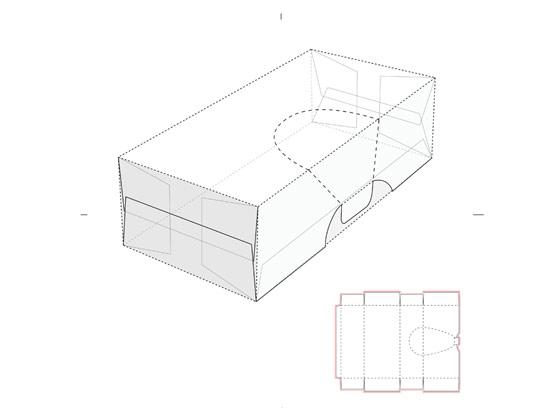 وکتور بسته بندی محصول با خط برش