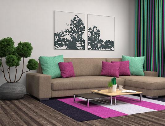 عکس با کیفیت اتاق پذیرایی