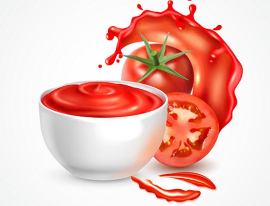 وکتور رب گوجه فرنگی پاشیده شده
