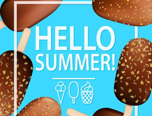 وکتور بکگراند تابستانه بستنی