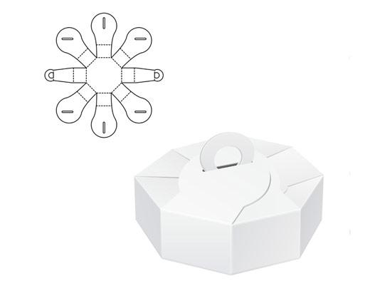 وکتور طرح گسترده جعبه هشت ضلعی