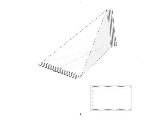 وکتور صفحه گسترده بسته بندی مثلث