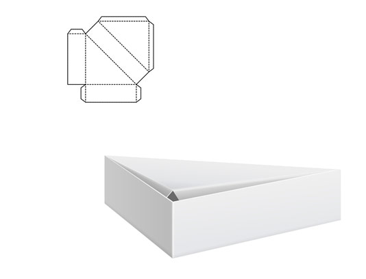 وکتور طرح گسترده جعبه مثلثی شکل