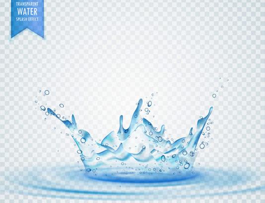 وکتور پاشیده شدن آب
