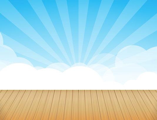 وکتور بکگراند چوبی و آسمان