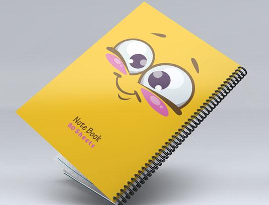 طرح لایه باز جلد دفتر مشق لبخند