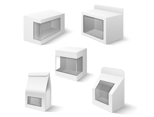 وکتور طرح بسته بندی سه بعدی