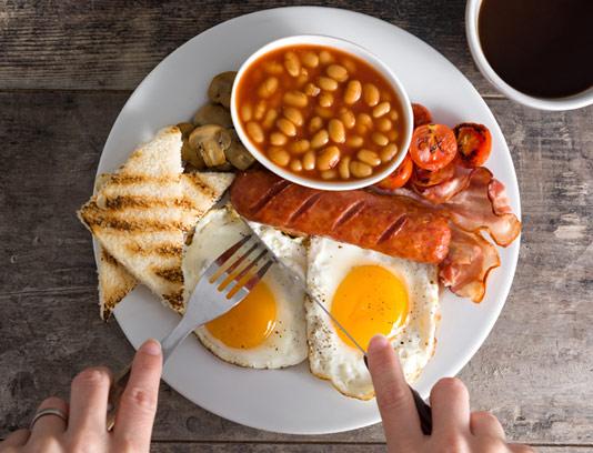 عکس با کیفیت صبحانه آمریکایی