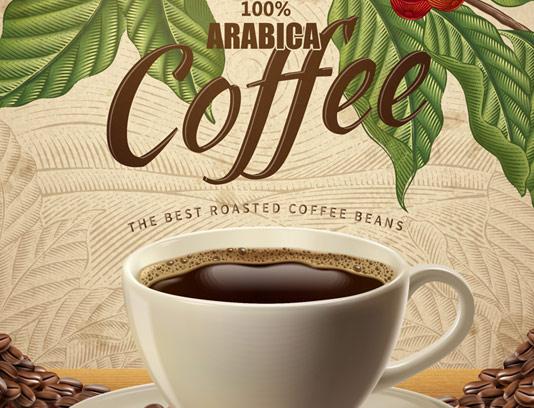 وکتور طرح قهوه عربی