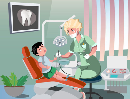 وکتور دندانپزشک کودکان