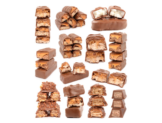 عکس با کیفیت شکلات های مغزدار