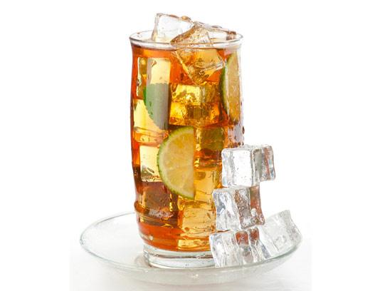 عکس با کیفیت چای سرد با لیمو