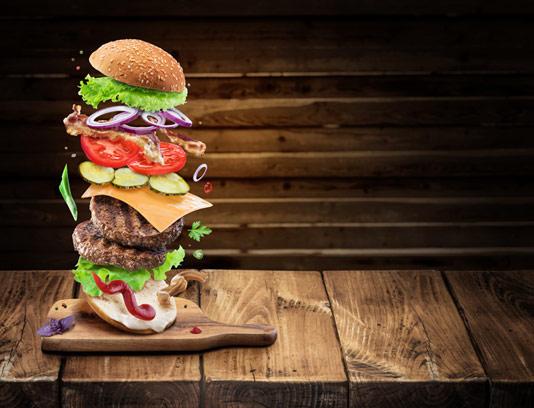 عکس با کیفیت ساندویچ دوبل برگر