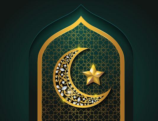وکتور بکگراند تبریک عید فطر