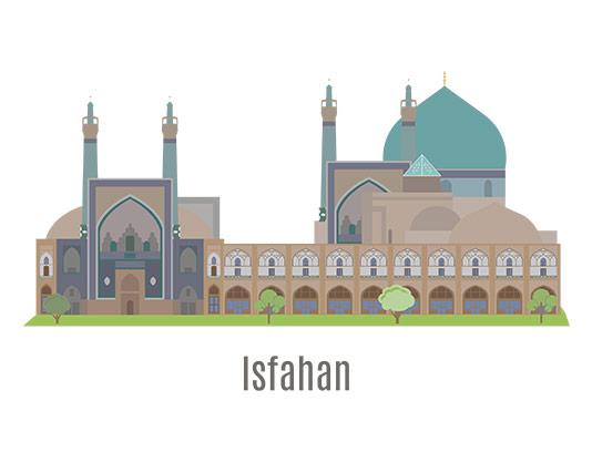 وکتور اصفهان به صورت فلت