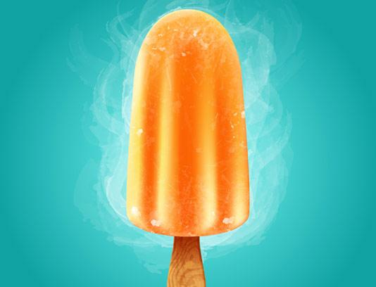 وکتور بستنی چوبی میوه ای