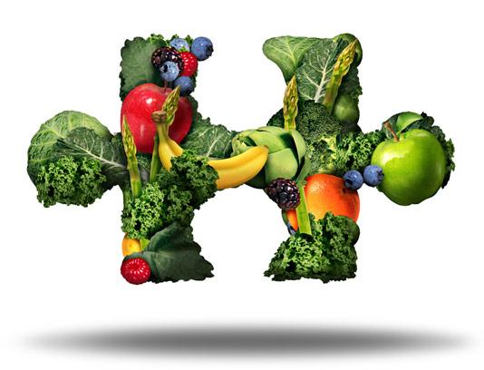 عکس مفهومی مواد غذایی سالم