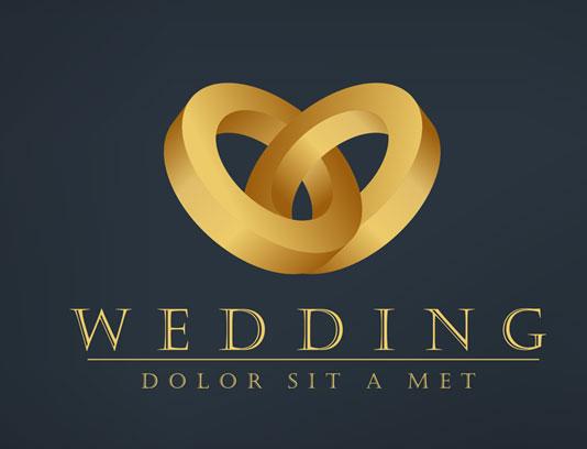 وکتور لوگوی حلقه ازدواج