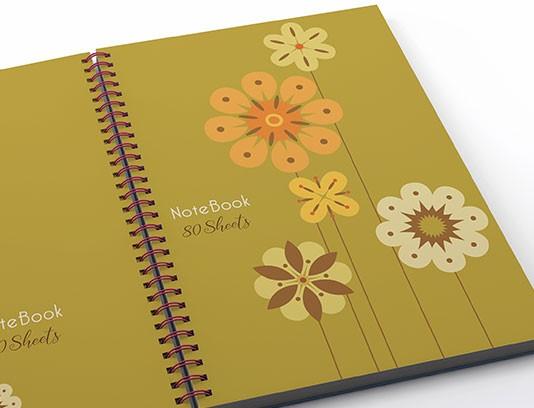 طرح لایه باز جلد دفتر فانتزی گلدار