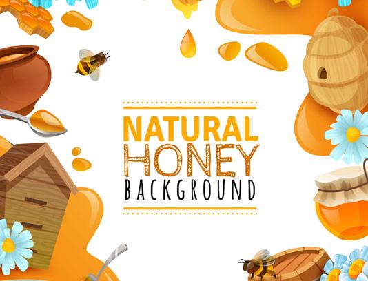 وکتور بکگراند عسل طبیعی
