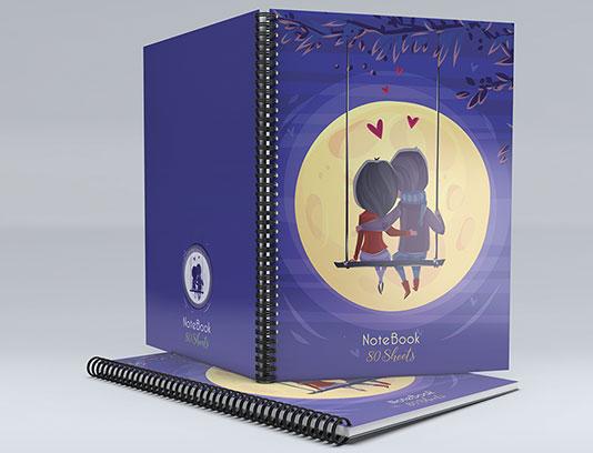 طرح لایه باز جلد دفتر عاشقانه