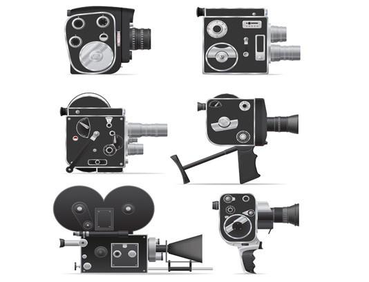 وکتور دوربین فیلمبرداری قدیمی
