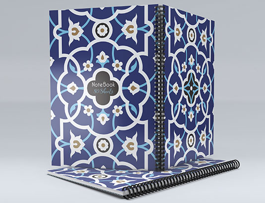 طرح لایه باز جلد دفتر با زمینه اسلامی