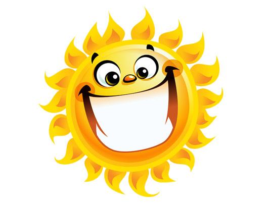 وکتور طرح خورشید خندان