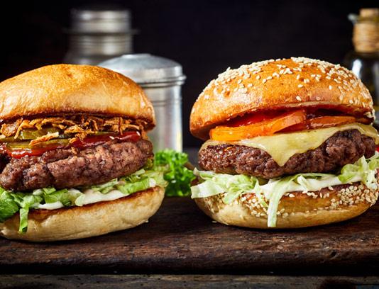 عکس با کیفیت همبرگر گوشت مخصوص