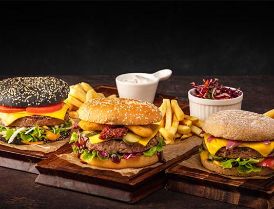 عکس با کیفیت ساندویچ همبرگر متنوع