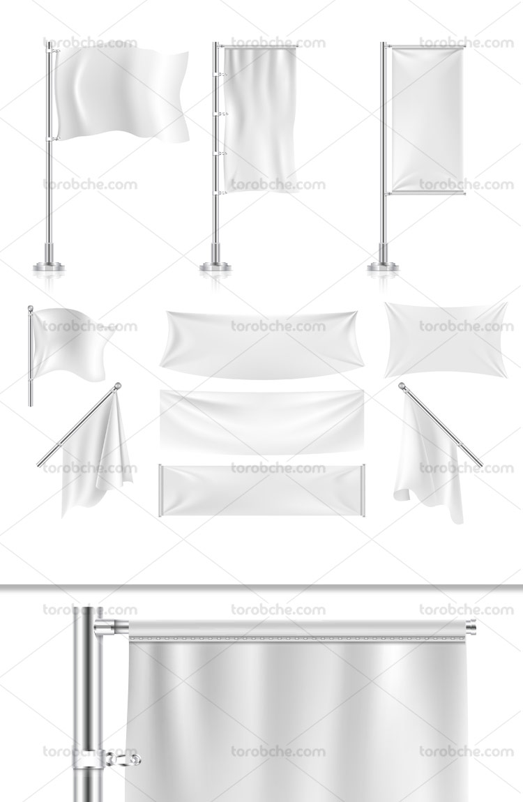 وکتور انواع مدل های پرچم