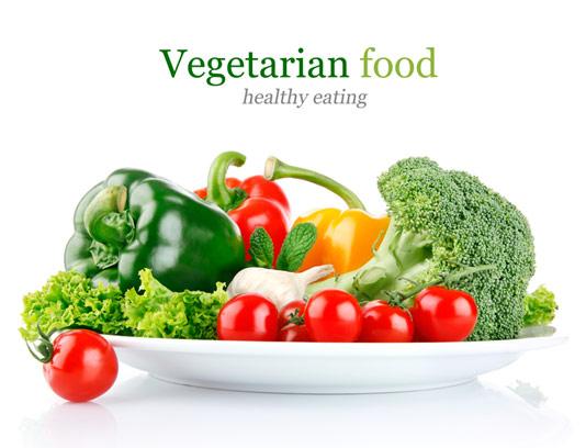 عکس با کیفیت بشقاب سبزیجات
