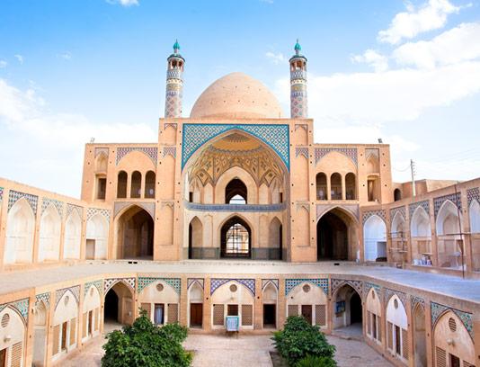 عکس با کیفیت مسجد آقابزرگ کاشان