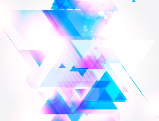 وکتور بگراند انتزاعی با طرح مثلث