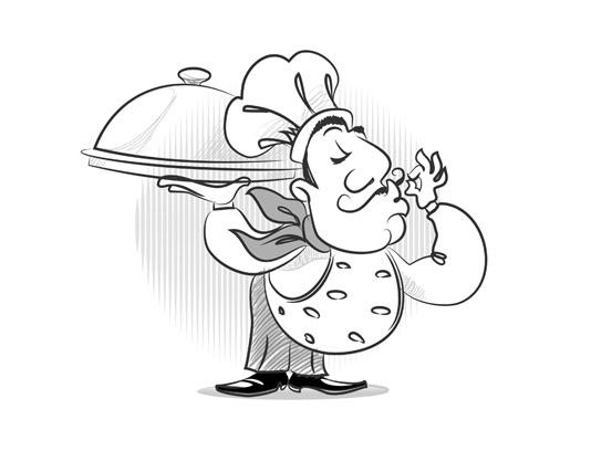 وکتور لوگو سرآشپز