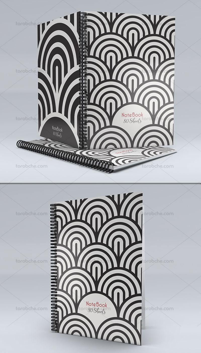 طرح لایه باز جلد دفتر اشکال هندسی