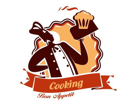 لوگو سرآشپز خلاقانه بصورت وکتور