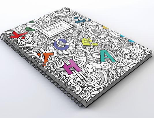 طرح لایه باز جلد دفتر زبان انگلیسی