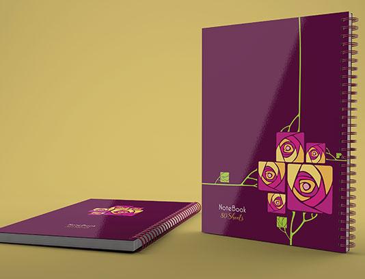طرح جلد دفتر گلدار لایه باز