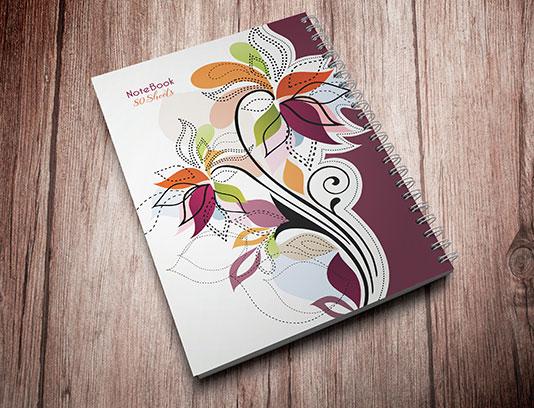 طرح لایه باز جلد دفتر گلدار
