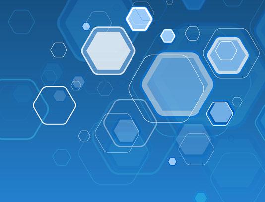 وکتور بکگراند شش ضلعی آبی رنگ