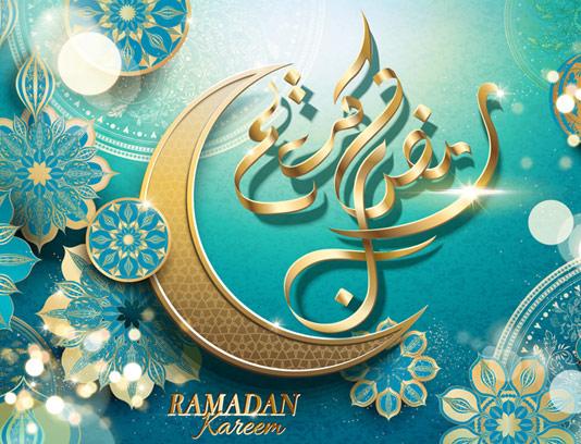 وکتور پس زمینه ماه مبارک رمضان