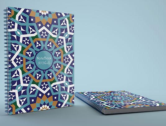 طرح لایه باز جلد دفتر اسلامی