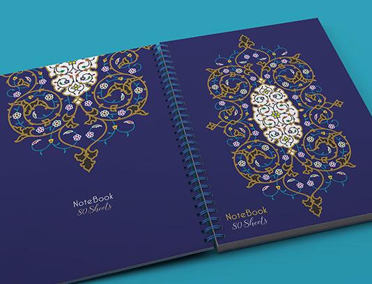 جلد دفتر اسلیمی لایه باز
