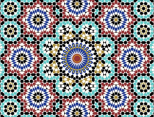 وکتور کاشی کاری اسلامی شماره ۲۰۵