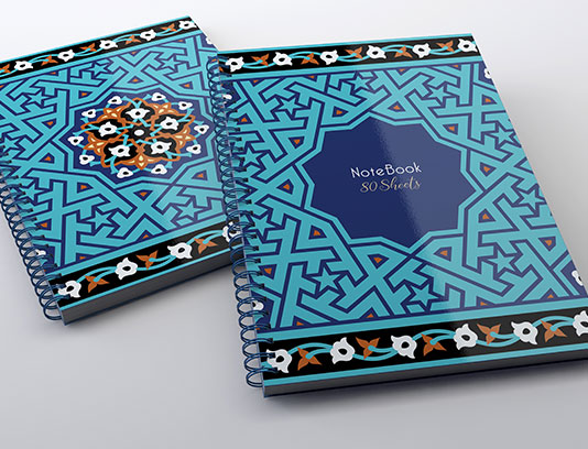 طرح لایه باز جلد دفتر کاشی کاری مسجد جامع یزد