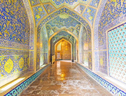 عکس کاشی های مسجد اصفهان