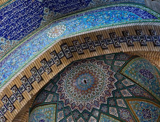 عکس کاشی کاری مسجد با کیفیت بالا
