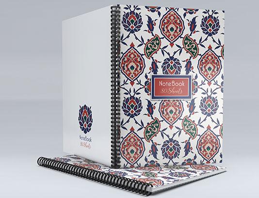 جلد دفتر ایرانی با نقوش سنتی
